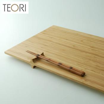◎TEORI+(PLUS) テオリ プラス P-PL[竹を加工した竹集成材を使った木製のランチョンマット(ランチマット) 和・洋どちらにも合う木目がおしゃれでランチにぴったりのトレイ(木のトレー)]