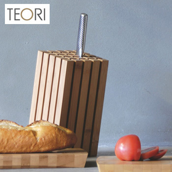 ◎TEORI SPLIT テオリ スプリット 傾斜型タイプ TW-SPS[竹の集成材(竹集成材)を使用したおしゃれな包丁スタンド(包丁立て/ナイフスタンド) こだわりキッチンにもおすすめのデザイン 包丁置き台]