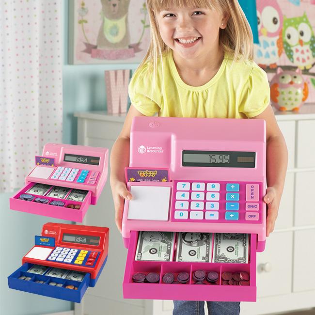 おままごと お店やさんごっこ レジのおもちゃ 本物そっくりなレジ チーン と音がなる 米ドル付き お店屋さんのレジのままごとができる お買い物ごっこのレジ遊びにおもちゃのお金 ドルや硬貨が入った知育玩具のレジスター お得なキャンペーンを実施中 驚きの値段 電卓式レジ 3歳からのお店屋さんごっこ