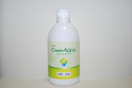 【まとめ買い】微アルカリ高濃度電解次亜塩素酸水グリーンアクア 500ミリリットル(500ppm)×6本セット