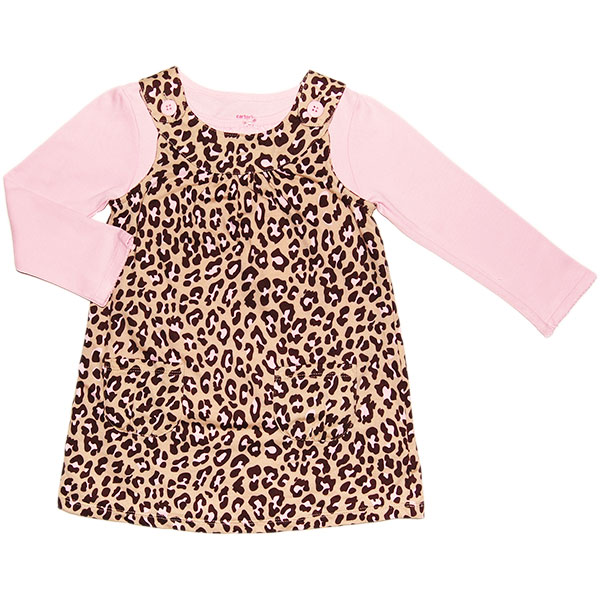 15e93ce8afc ... TEN  Carter s (Carter s) for girls bergiuleopard (Leopard print) jump  skating  amp  pale pink long sleeve Bodysuit