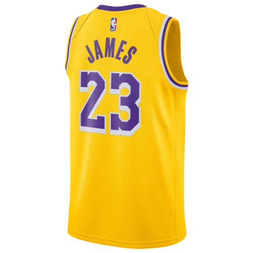 【送料無料+P3倍+クーポン】nike ナイキ 【メンズサイズ】 NBA Swingman Jersey (Los Angeles Lakers/Lebron James/Amarillo) スウィングマンジャージ ユニフォーム レブロン・ジェームズ