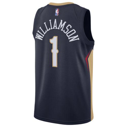 【送料無料+限定クーポン対象】nike ナイキ 【メンズサイズ】 NBA Swingman Jersey (New Orleans Pelicans/Zion Williamson/College Navy/Club ゴールド) ザイオン・ウィリアムソン