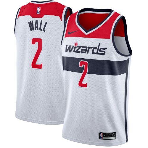 【送料無料+限定クーポン対象】nike ナイキ 【メンズサイズ】 NBA Swingman Jersey (Washington Wizards/John Wall/白い) スウィングマンジャージ ユニフォーム ジョン・ウォール