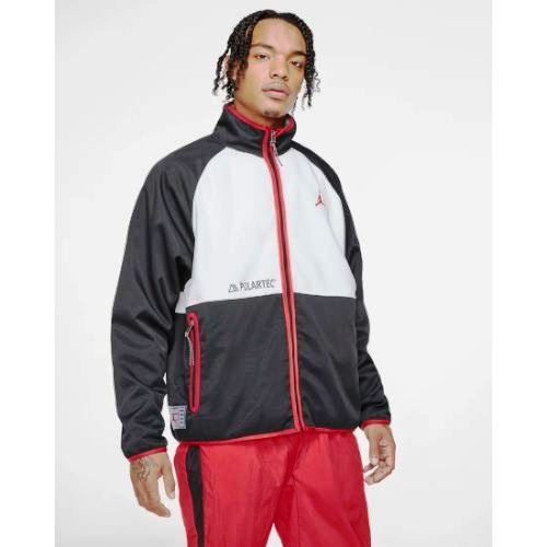 【送料無料+P3倍+クーポン】nike ナイキ ジョーダン 【メンズサイズ】 Jordan AJ11 Polartec Fleece Jacket(Black/White/Gym Red) アウター フリースジャケット ジャンパー ストリート