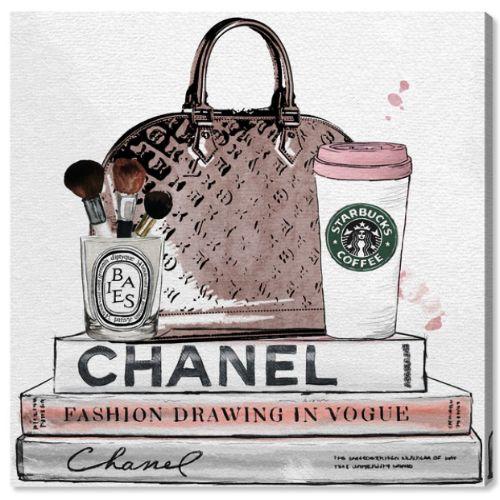 【送料無料+2%割引】【まとめ買い割引★2枚目10%OFF】 Oliver Gal オリバーガル 約51x51cm BLUSH AND MAKE UP BRUSH Starbucks スターバックス スタバ 開店祝いインテリア 衣替え 引越し祝い