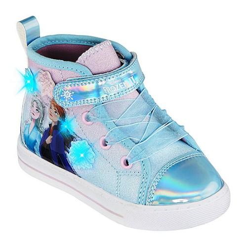 【期間限定☆送料無料】【海外限定・日本未発売】 Disney ディズニー アナと雪の女王 【ライトアップ機能付き】 Frozen 2 ハイカットスニーカー(Blue Berry) エルサ オラフ 子供靴 女の子用シューズ プレゼント