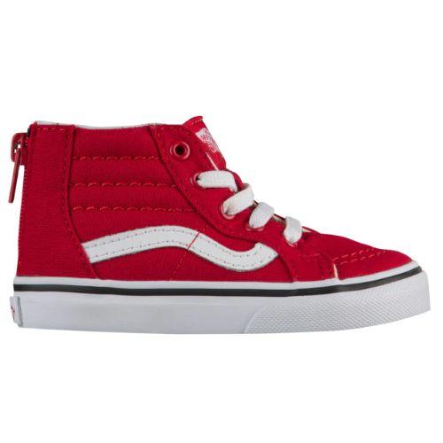 【期間限定☆送料無料】【10%年末特別割引】【海外限定】 Vans ヴァンズ バンズ (10.5-16.0cm) Vans SK8-Hi (Racing Red/True White) スニーカー 子供靴