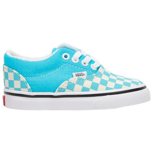 【期間限定★送料無料】【10%年末特別割引】【海外限定】 Vans ヴァンズ バンズ (10.5-16.0cm) Vans Era Checkerboard (Scuba Blue/True White) スニーカー 子供靴