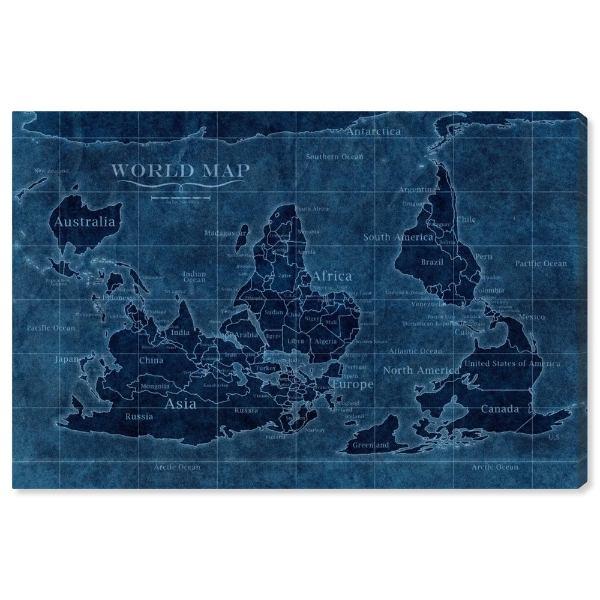 【送料無料+P3倍+クーポン】【まとめ買い割引★2枚目10%OFF】 Oliver Gal オリバーガル 約91x61cm Upside-Down Map of the World インテリア 絵画 衣替え 引越し祝い 引っ越し祝い