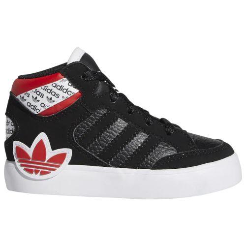 【送料無料+P3倍+クーポン】【海外限定】 アディダス オリジナルス 【ベビー・キッズ(11.0-16.5cm)】 adidas Originals Hardcourt Hi(Black/White/Lush Red) スニーカー 子供靴 出産祝い