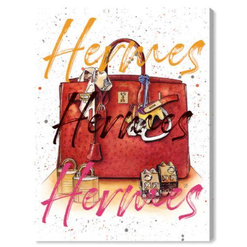 【送料無料+P3倍+クーポン】【まとめ買い割引★2枚目10%OFF】 Oliver Gal オリバーガル 約61x41cm DOLL MEMORIES - CARAMEL SPLASH BAG II HERMES エルメス インテリア 絵画 衣替え 引越し祝い