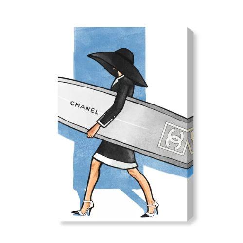 【送料無料☆割引クーポン対象】【安心の国内発送】 Oliver Gal オリバーガル 約61x41cm Surfer Girl Tall Chanel シャネル インテリア 絵画 衣替え 引越し祝い 引っ越し祝い