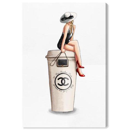 【送料無料☆割引クーポン対象】【安心の国内発送】 Oliver Gal オリバーガル 約38x25cm Cafe Au Lait Cambon Chanel シャネル インテリア 絵画 衣替え 引越し祝い 引っ越し祝い