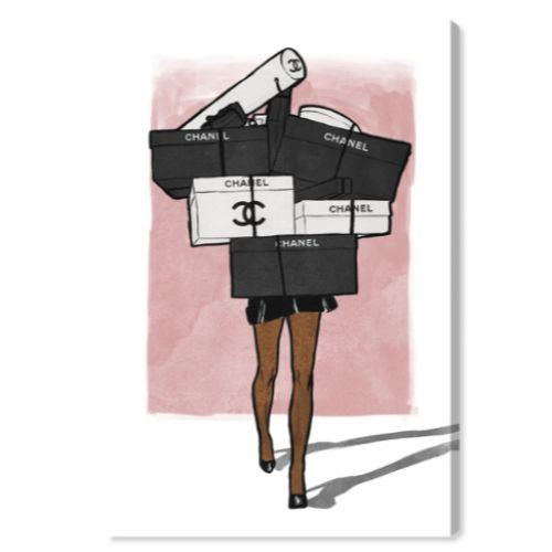 【送料無料+P3倍+クーポン】【まとめ買い割引★2枚目10%OFF】 Oliver Gal オリバーガル 約76x51cm French Boxes Overload Blush Chanel シャネル インテリア 絵画 衣替え 引越し祝い 引っ越し祝い