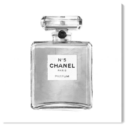 格安人気 【送料無料+割引クーポン対象】【安心の国内発送】 Oliver Gal オリバーガル 約41x41cm Silver Classic Perfume シャネル Chanel キャンバスアート インテリア 衣替え 引越し祝い, 白衣&エプロン 31a88879