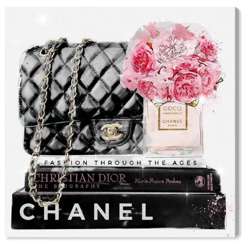 【祝開店!大放出セール開催中】 【送料無料+割引クーポン対象】【安心の国内発送】 Oliver Gal オリバーガル 約41x41cm Elegant Essentials Paris シャネル Chanel キャンバスアート インテリア 衣替え 引越し祝い, 超美品の ae457870