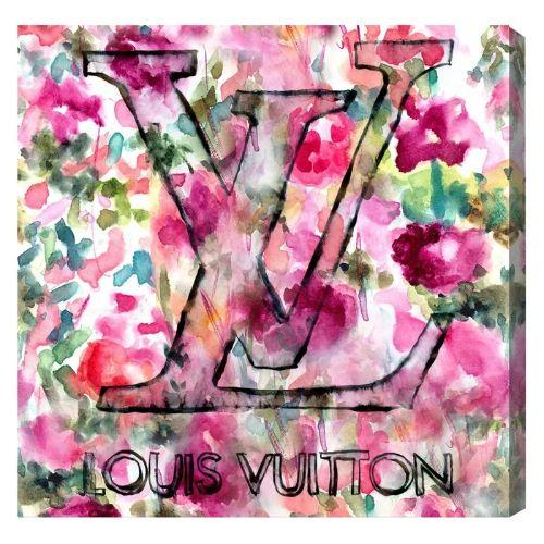 【送料無料+BFセールP5倍】【まとめ買い割引★2枚目5%+3枚目10%OFF】 Oliver Gal オリバーガル 約91x91cm LV Garden ヴィトン Louis Vuitton キャンバスアート インテリア 絵画 衣替え 引越し祝い 引っ越し祝い