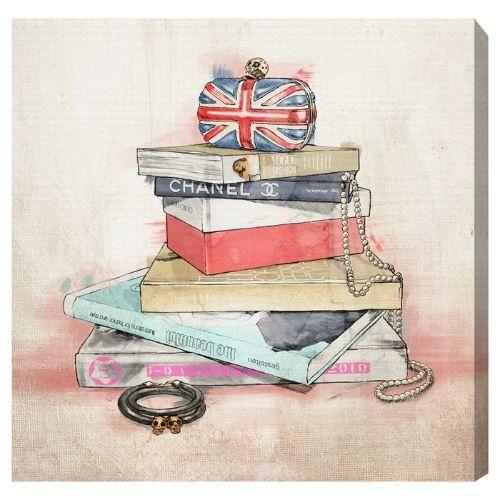 人気TOP 【送料無料+割引クーポン対象】【安心の国内発送】 Oliver Gal オリバーガル 約76x76cm Fashion Books シャネル Chanel キャンバスアート インテリア 衣替え 引越し祝い, 銀雅堂 74f6caab