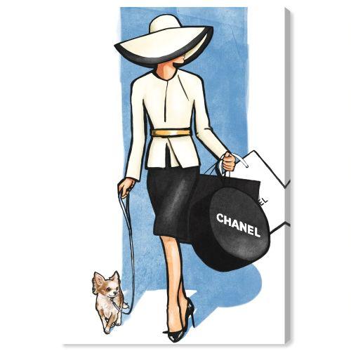 【送料無料+P3倍+クーポン】【まとめ買い割引★2枚目10%OFF】 Oliver Gal オリバーガル 約91x61cm Go For a Walk Chanel シャネル インテリア 絵画 衣替え 引越し祝い 引っ越し祝い