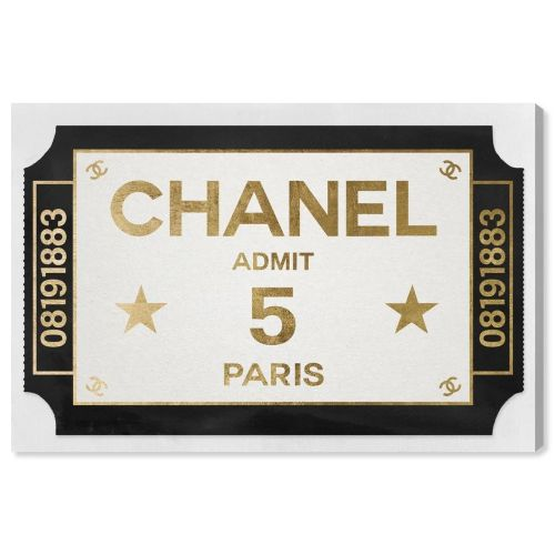 【送料無料+P3倍+クーポン】【まとめ買い割引★2枚目10%OFF】 Oliver Gal オリバーガル 約38x25cm Ticket Admit One Paris Chanel シャネル インテリア 絵画 衣替え 引越し祝い 引っ越し祝い