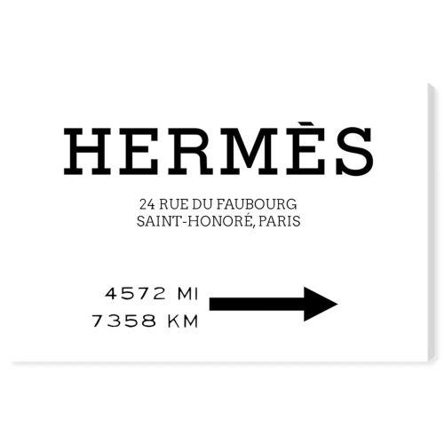 【送料無料+P3倍+クーポン】【まとめ買い割引★2枚目10%OFF】 Oliver Gal オリバーガル 約38x25cm Faubourg Road Sign Minimalist エルメス Hermes インテリア 絵画 衣替え 引越し祝い 引っ越し祝い