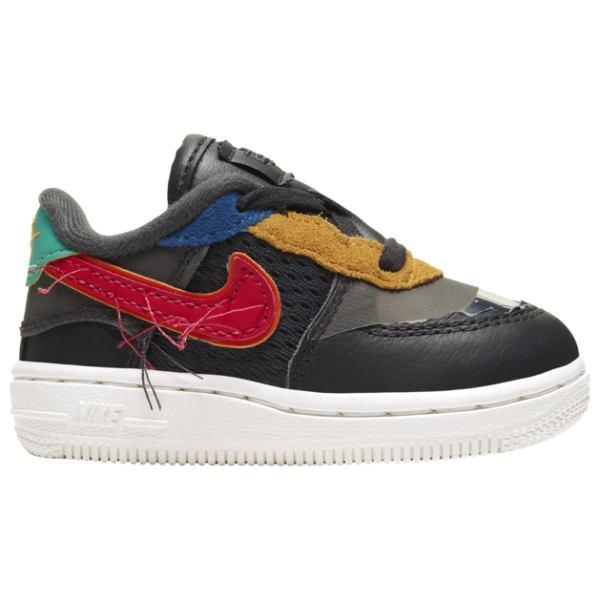 誕生プレゼント Air ギフト 【送料無料+BFセールP5倍】 スニーカー Force ナイキ 出産祝い Nike 子供靴 1 Low(Black/Red/Yellow) nike Sneakers 【ベビー・キッズ(8.0-16.0cm)】