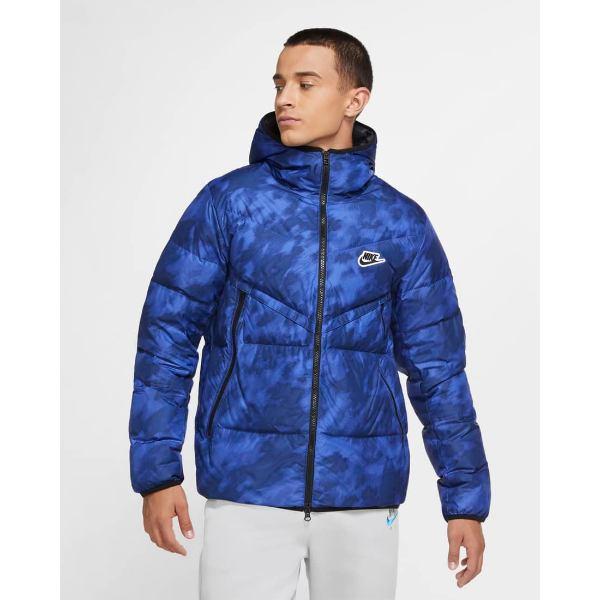 Down ダウンジャケット 【メンズサイズ】 Windrunner ジャンパー Nike Jacket(Blue アウター 【送料無料+BFセールP5倍】ナイキ Void/Black/Black) Fill