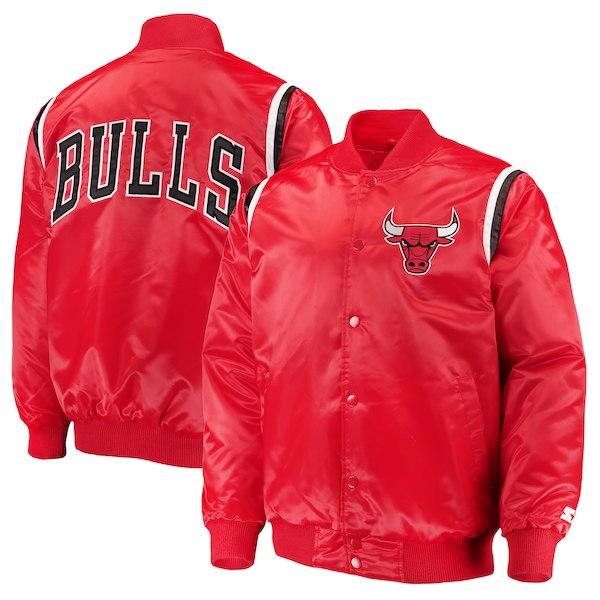 Starter x Chicago Bulls スターター 【メンズサイズ】 シカゴブルズスナップジャケット(レッド) アウター Jordan ジョーダン ストリート 【ラ・クーポンで送料無料】【楽ギフ_包装選択】