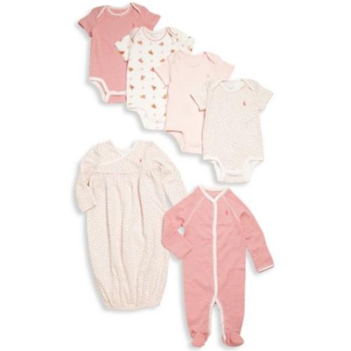 86ffecd21ee52 RALPHLAURENラルフローレン ギフトボックス入り 女の子用ピンク出産祝い豪華16点