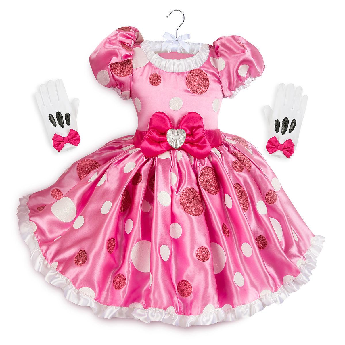 Disney ディズニー Minnie Mouse 85-125cmサイズ 女の子用ミニーマウスなりきりコスチュームドレス2点セット ワンピース コスプレ ハロウィン ハロウィーン Halloween 衣装 変装 【ラ・クーポンで送料無料】【楽ギフ_包装選択】