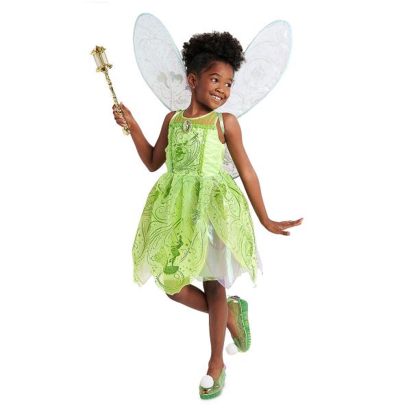 Disney ディズニー Tinker Bell 95-155cm 女の子用ティンカーベルコスチュームドレス ワンピース コスプレ ハロウィン Halloween 衣装 変装 プリンセス 【ラ・クーポンで送料無料】【楽ギフ_包装選択】