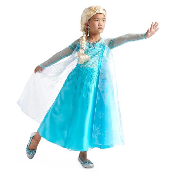 Disney ディズニー アナと雪の女王 Frozen 95-158cm 女の子用エルサコスチュームドレス ワンピース コスプレ ハロウィン Halloween 衣装 変装 プリンセス 【ラクーポンで送料無料】【楽ギフ_包装選択】