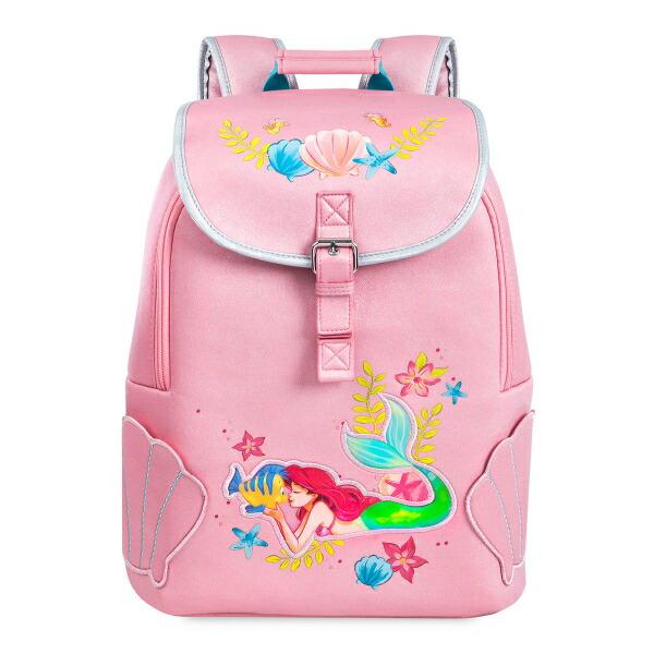 【期間限定☆送料無料】Disney ディズニー The Little Mermaid リトルマーメイド ベビーピンクアリエルお出かけ用リュックサック バックパック カバン 鞄 デイバッグ 旅行