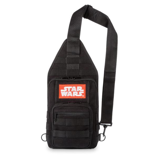 Disney ディズニー Star Wars スターウォーズロゴお出かけ用スリングリュックサック バックパック カバン 鞄 デイバッグ 旅行 【ラクーポンで送料無料】