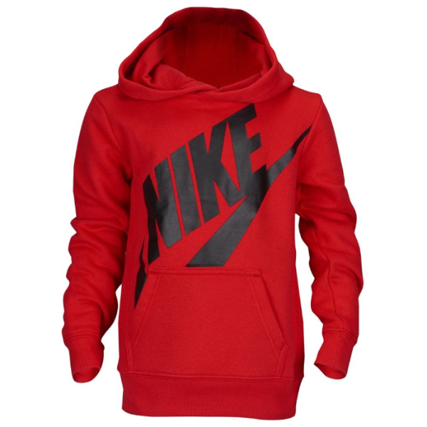 nike ナイキ 【3-7歳用】 男の子用Nike Jumbo Futuraグラフィックパーカー(Gym Red/Black) プルオーバー トップス 【楽ギフ_包装選択】【ラ・クーポンで送料無料】