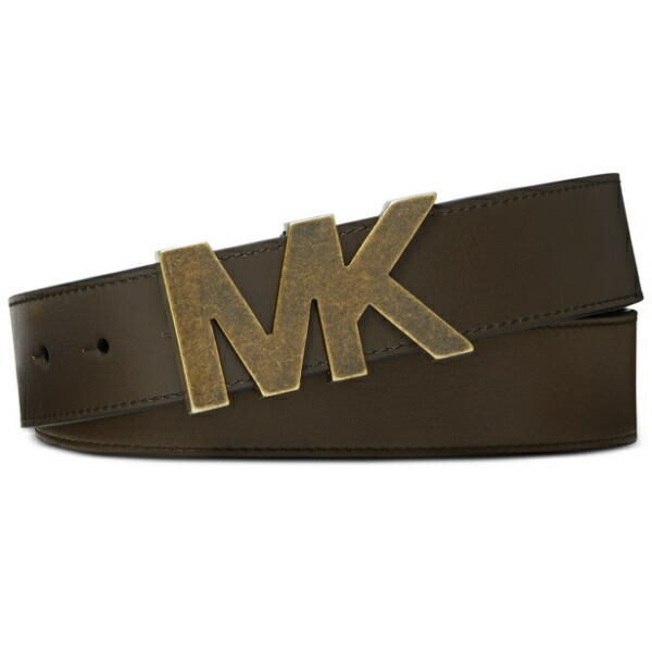 MICHAEL KORS マイケルコース 【メンズサイズ】 MKロゴバックルメンズファッションベルト(Olive) 小物 アクセサリー 【ラ・クーポンで送料無料】【楽ギフ_包装選択】