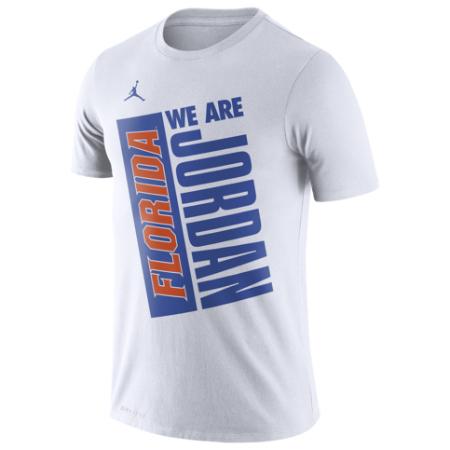 uk availability edd4f 14308 nike Nike Jordan Jordan Florida Gators Just Do It T-shirt (White) tops  short sleeves street