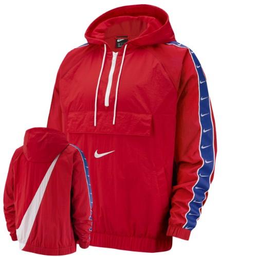 【送料無料+P3倍+クーポン】nike ナイキ 【メンズサイズ】 Nike Swoosh Woven ジャケット(University Red/White) ジャンパー アウター ストリート 【楽ギフ_包装選択】