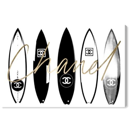 【送料無料+割引クーポン対象】【安心の国内発送】 Oliver Gal オリバーガル 約152x102cm SURFING PARIS WHITE CHANEL シャネル キャンバスアート インテリア 絵画 衣替え 引越し祝い 引出物
