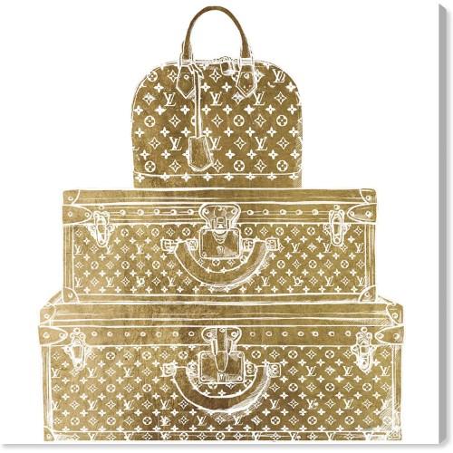 送料無料+P2倍 【安心の国内発送】 Oliver Gal オリバーガル 約76x76cm Royal Bag and Luggage Gold Diecut ヴィトン 【送料無料+P2倍】【安心の国内発送】 Oliver Gal オリバーガル 約76x76cm Royal Bag and Luggage Gold Diecut Louis Vuitton ルイ・ヴィトン 絵画 【楽ギフ_包装選択】