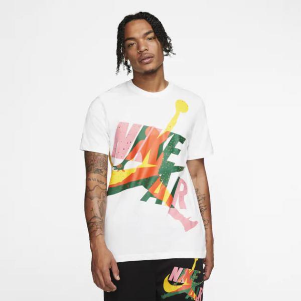 【送料無料+P3倍+クーポン】nike ナイキ 【メンズサイズ】 ジョーダン Jordan Jumpman Classics HBR T-Shirt(White/Total Orange/Rush Blue) Tシャツ 半袖トップス ストリート