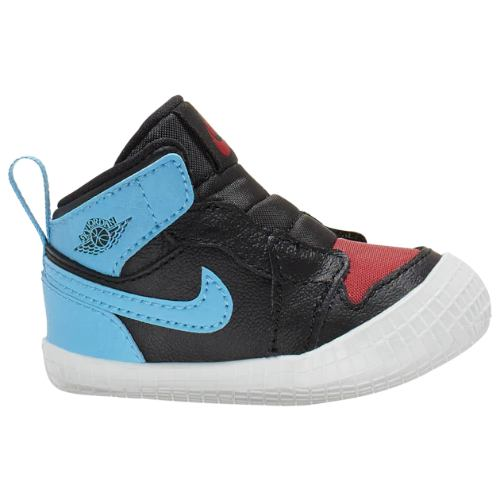 【送料無料+P3倍+クーポン】 nike ナイキ ジョーダン 【ベビー(7.0-10.0cm)】 Jordan AJ 1 Crib Bootie (Black/Dark Powder Blue/Gym Red)スニーカー 子供靴 出産祝い
