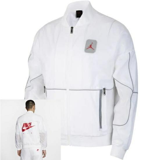 【送料無料+P3倍+クーポン】nike ナイキ 【メンズサイズ】 ジョーダン Jordan Retro 5 Jacket (White/University Red) ジャケット アウター ジャンパー トップス ストリート