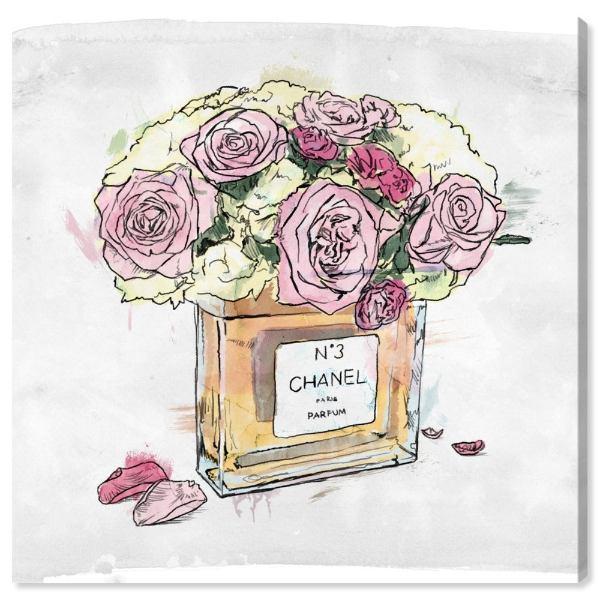 【送料無料+P3倍+クーポン】【まとめ買い割引★2枚目10%OFF】 Oliver Gal オリバーガル 約30x30cm Flower Vase シャネル Chanel キャンバスアート インテリア 衣替え 引越し祝い