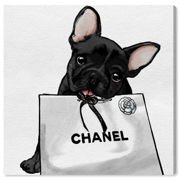 【送料無料+P3倍+クーポン】【まとめ買い割引★2枚目10%OFF】 Oliver Gal オリバーガル 約30x30cm Frenchie Glam White Bag シャネル Chanel キャンバスアート インテリア 衣替え 引越し祝い