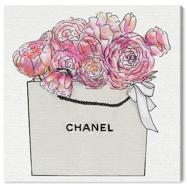 【送料無料+P3倍+クーポン】【まとめ買い割引★2枚目10%OFF】 Oliver Gal オリバーガル 約41x41cm MARKET DAY FLOWERS II シャネル Chanel キャンバスアート インテリア 衣替え 引越し祝い