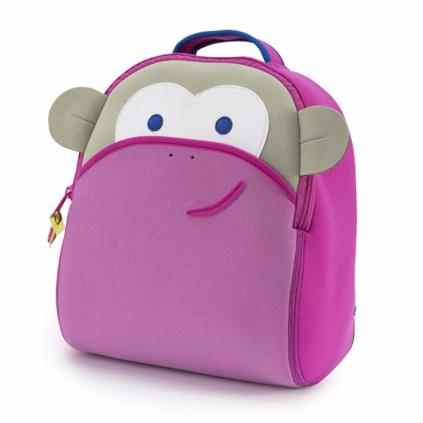 Pink Monkey Backpack Rucksack Going To Kindergarten Attending School Bag Lunch Excursion For The Child Of ダバワラ Dabbawalla Woman