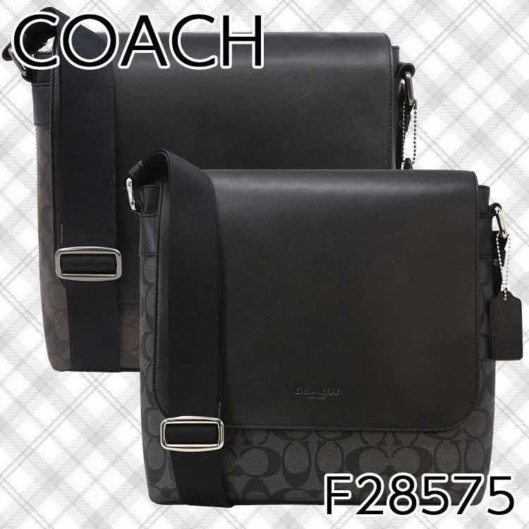 コーチ ショルダーバッグ メンズ レザー COACH F28575 シグネチャー アウトレット