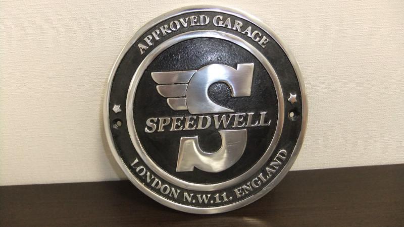 Speedwell ガレージサイン  アルミガレージサイン